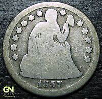 1857 P SEATED DIME  --  MAKE US AN OFFER  R3925