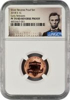 2018 S LINCOLN PENNY REVERSE PROOF EARLY RELEASES NGC PF70 R