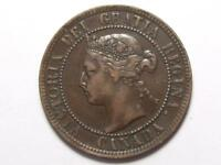 1896 CANADIAN LARGE PENNY QUEEN VICTORIA  OBVERSE DIE CRACKS LOT B13