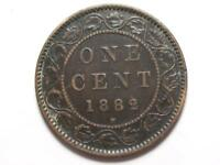1882 H CANADIAN LARGE PENNY QUEEN VICTORIA LOT B21