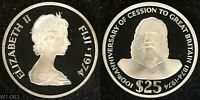 FIJI 1974 $25 PROOF COIN  1.445 TROY OZ STERLING SILVER  WORLD SILVER