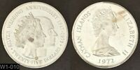 CAYMAN ISLANDS 1972 $25 PROOF COIN  SILVER WEDDING ANNIVERSARY  WORLD SILVER