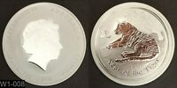 AUSTRALIA 2010 $1 COIN  YEAR OF THE TIGER  WORLD SILVER    NOT COLORIZED