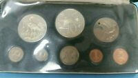 1972 TRINIDAD AND TOBAGO EIGHT COIN PROOF SET STERLING SILVE