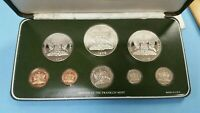 1976 TRINIDAD AND TOBAGO EIGHT COIN STERLING SILVER PROOF SE