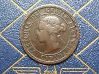 1876 CANADIAN LARGE PENNY QUEEN VICTORIA LOT B3