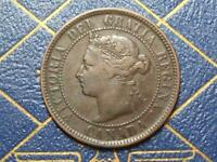 1884 CANADIAN LARGE PENNY QUEEN VICTORIA LOT B9