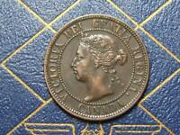 1900 NO H CANADIAN LARGE PENNY QUEEN VICTORIA LOT B28