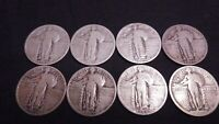 8 STANDING LIBERTY QUARTERS    1918, 2 1925, 2 1926 S, 1926, 1928 S, 1930 S