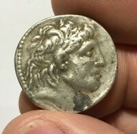 ANCIENT GREEK SILVER COIN TETRADRACHM ANTIOCH EYERGETES 12.7