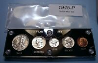 1945 U.S. WAR TIME SILVER COIN SET MINT STATE TO CHOICE BRIL