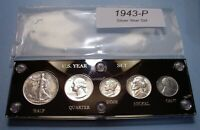 1943 U.S. WAR TIME SILVER COIN SET ABOUT UNCIRCULATED TO BRI