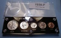 1939 SILVER SET OF U.S. COINS ABOUT UNCIRCULATED TO MINT UNC