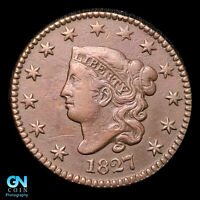1827 CORONET HEAD LARGE CENT  TYPE COIN  BETTER DATE    Z33