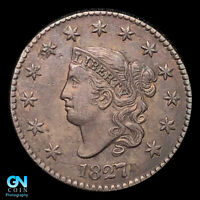 1827 CORONET HEAD LARGE CENT  HIGH GRADE   STRONG STRIKE    Z34
