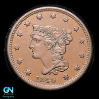 1840/39 BRAIDED HAIR LARGE CENT   VARIETY   SMALL DATE   NICE COIN    Z45