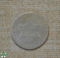 1851 THREE CENT SILVER   ABOUT GOOD DETAILS