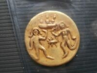UNIQUE AUTHENTIC ANCIENT SOLID GOLD COIN        KUSHAN INDIA