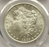 1885 CC MORGAN SILVER DOLLAR PCGS MS65