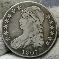 1807 CAPPED BUST HALF DOLLAR 50 CENTS -  COIN SHIPS FREE 7914