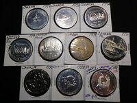 X150 CANADA SILVER COMMEMORATIVE DOLLAR MIXED DATE GROUP 10