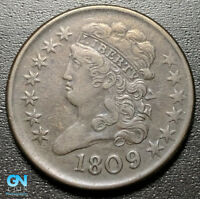 1809/6 CLASSIC HEAD HALF CENT --  MAKE US AN OFFER  R9995