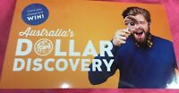 2019 $1 DOLLAR DISCOVERY COIN ORANGE FOLDER WITH 3 COINS 'A'