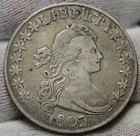 1803 DRAPED BUST HALF DOLLAR 50 CENTS -  COIN SHIPS FREE 5332