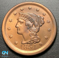 1854 BRAIDED HAIR LARGE CENT --  MAKE US AN OFFER  R8124