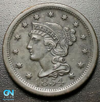 1854 BRAIDED HAIR LARGE CENT --  MAKE US AN OFFER  R8123