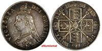 GREAT BRITAIN VICTORIA SILVER 1890 DOUBLE FLORIN LAST YEAR TYPE KM 763
