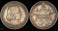 1892 COLUMBIA EXPOSITION  COMMEMORATIVE HALF  SILVER COIN  MACHINE DOUBLED