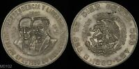 MEXICO 1960 10 PESO  150TH ANNIVERSARY   WAR OF INDEPENDENCE  WORLD SILVER