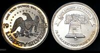 1985 LIBERTY SILVER  LIFE LIBERTY HAPPINESS  SILVER 1 OZT .999 ART ROUND