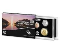 2019 U.S. MINT 10 COIN SILVER PROOF SET W/ .999 SILVER AB QUARTERS   IN STOCK