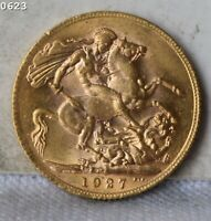 1927 GREAT BRITAIN 1 SOVEREIGN GOLD