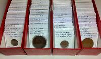 1800S 1900S WORLD LOT OF 150 CARDED COINS WITH SILVER MANY B