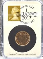2013 GOLD FULL SOVEREIGN DATE STAMP TOWER HILL BRILLIANT UNC