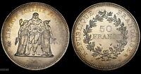 1976 FRANCE 50 FRANCS  HERCULES WITH MAIDENS  WORLD SILVER COIN