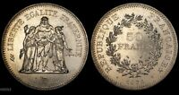 1974 FRANCE 50 FRANCS  HERCULES WITH MAIDENS  WORLD SILVER COIN
