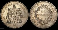 1978 FRANCE 50 FRANCS  HERCULES WITH MAIDENS  WORLD SILVER COIN