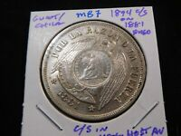 M87 GUATEMALA / CHILE 1894 1/2 REAL C/S ON 1881 PESO C/S IN
