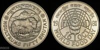 1981 BHUTAN 50 NGULTRUMS  ONLY 15 000 MINTED  WORLD SILVER COIN