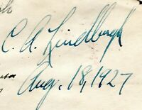 CHARLES A. LINDBERGH AUTOGRAPH ON 1927 FLIGHT COVER TO WICHI