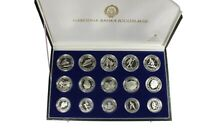 YUGOSLAVIA 15 SILVER PROOF COINS SET SARAJEVO 1984 OLYMPIC GAMES BOX