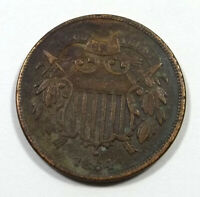 1868 SHIELD TWO CENTS US COIN PHILADELPHIA MINT BETTER CONDITION VALUABLE COIN
