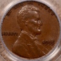 1955 DOUBLED DIE OBV LINCOLN CENT PCGS AU58 CAC ORIGINAL   D