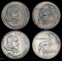 1966 SOUTH AFRICA 1 RAND  2 COINS  WORLD SILVER COIN