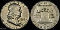 1958 D  FRANKLIN HALF DOLLAR  LIGHTLY CIRCULATED  SILVER COIN