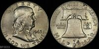 1963 D  FRANKLIN HALF DOLLAR  LIGHTLY CIRCULATED  SILVER COIN